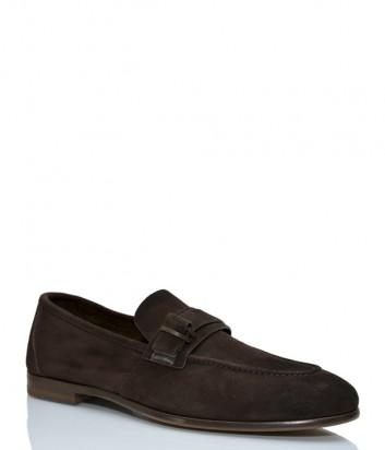 Замшевые туфли FABI 0254 коричневые