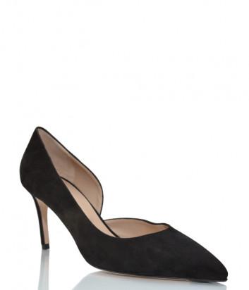 Замшевые туфли GIORGIO FABIANI 211026 черные