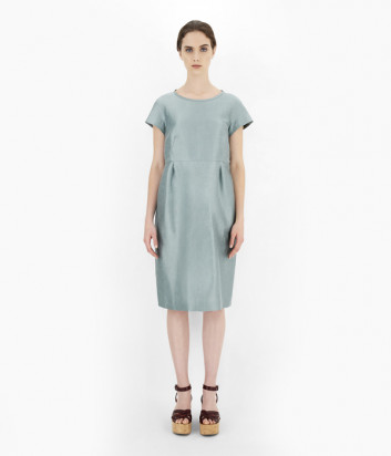 Льняное платье WEEKEND Max Mara Prugna WE52211311 зеленое