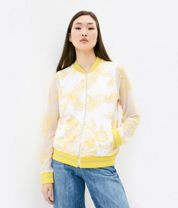 Олимпийка LIU JO TA1018 J6168 белая с желтой вышивкой