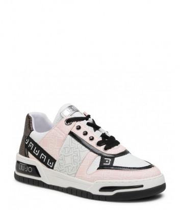 Кожаные кроссовки LIU JO Gyn 05 BA1043 EX057 комбинированные