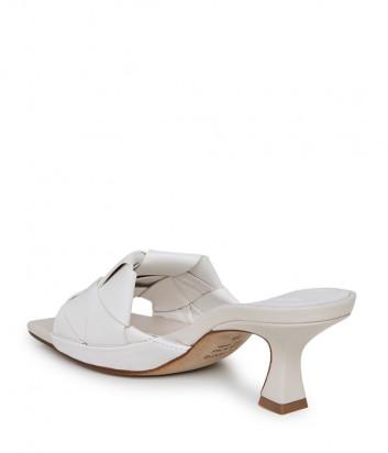 Кожаные сабо VIC MATIE 1Z5800D на среднем каблуке белые