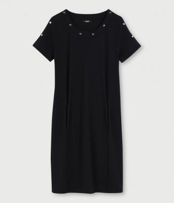 Платье LIU JO TA1123 J6182 с заклепками черное