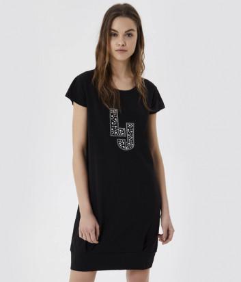 Платье LIU JO VA1091J5003 с логотипом черное