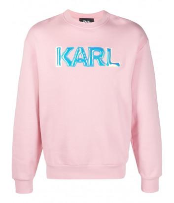 Толстовка KARL LAGERFELD 211W1882 с логотипом розовая