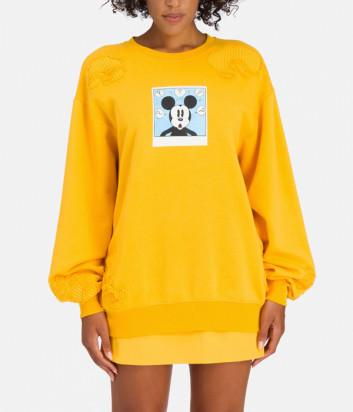 Свитшот ICEBERG I2P0E0216300 с изображением Mickey Mouse желтый