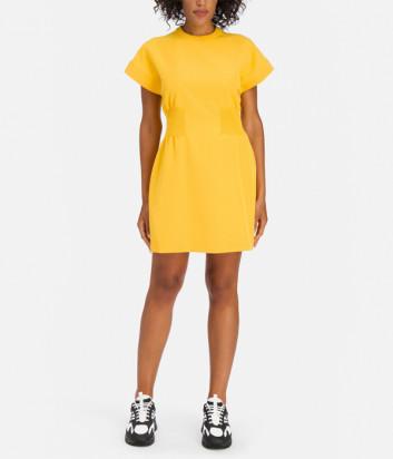 Платье ICEBERG I2P0H1515A74 с брендированной резинкой на талии желтое