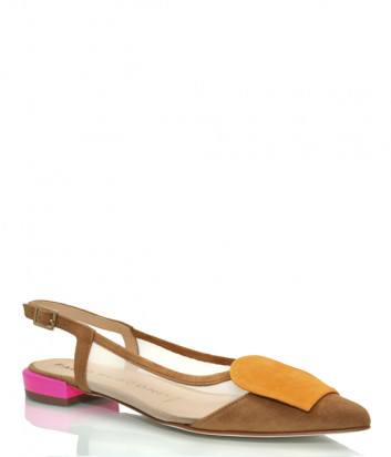 Замшевые туфли FABIO RUSCONI 5304 коричневые