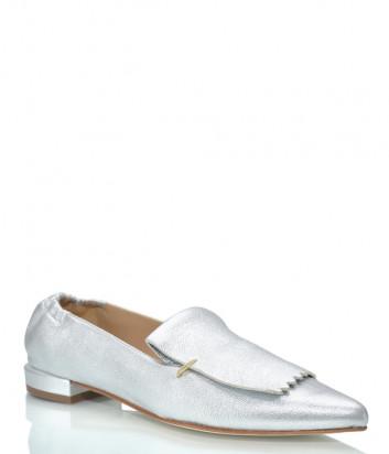 Кожаные туфли FABIO RUSCONI 5739 серебристые