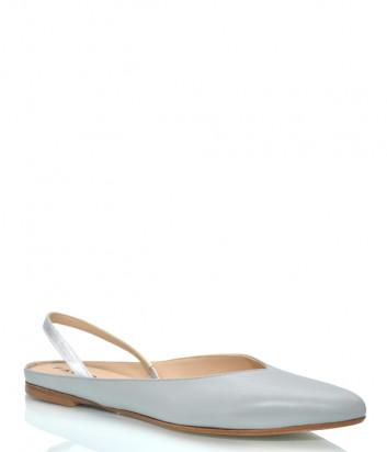 Кожаные туфли FABIO RUSCONI 4701 серо-голубые