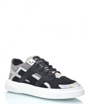 Комбинированные кроссовки HIDE & JACK 1GRYDGRWHT серо-черные