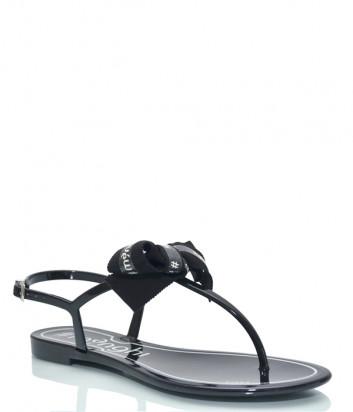 Силиконовые сандалии MENGHI 817 с бантиком черные