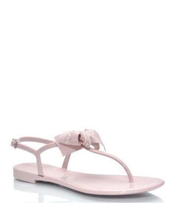 Силиконовые сандалии MENGHI 817 с бантиком розовые