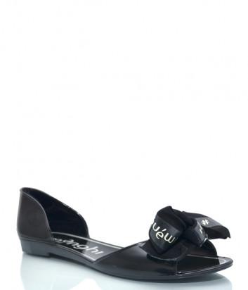 Силиконовые сандалии MENGHI 901e с бантиком черные