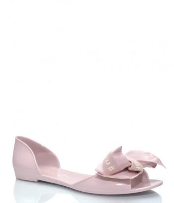 Силиконовые сандалии MENGHI 901e с бантиком розовые