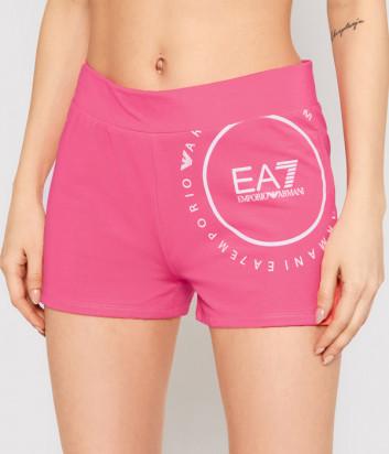 Спортивные шорты EA7 EMPORIO ARMANI 3KTS60 TJ9RZ розовые