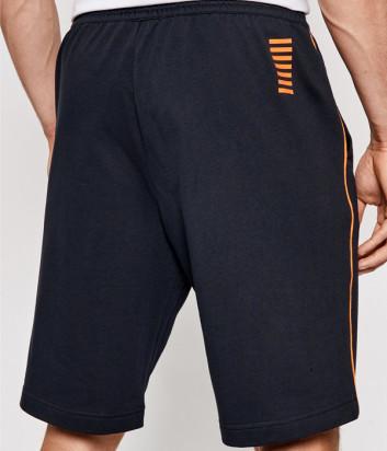 Спортивные шорты EA7 EMPORIO ARMANI 3KPS55 PJ05Z синие с логотипом