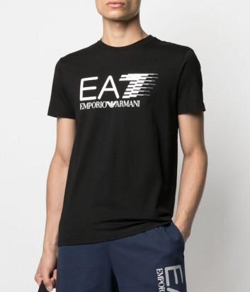 Футболка EA7 EMPORIO ARMANI 3KPT39 PJ02Z черная с логотипом