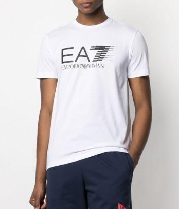 Футболка EA7 EMPORIO ARMANI 3KPT39 PJ02Z белая с логотипом