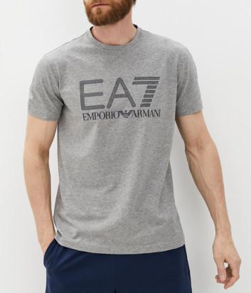 Футболка EA7 EMPORIO ARMANI 3KPT62 PJ03Z серая с логотипом