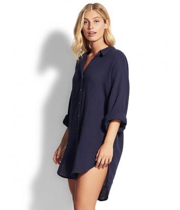 Длинная рубашка Seafolly 53796-TO синяя