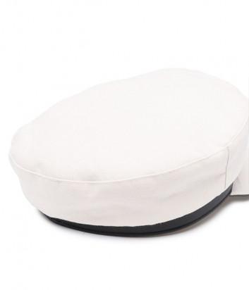 Льняная кепка KARL LAGERFELD 211W3405 молочная с черным кантом