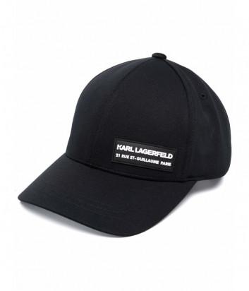 Бейсболка KARL LAGERFELD 805615 511120 черная с логотипом