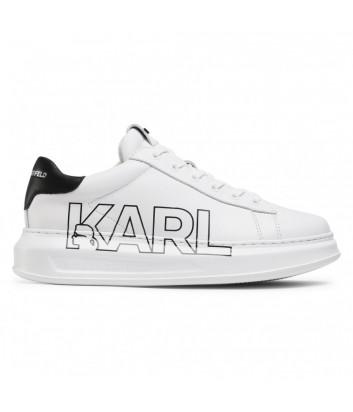 Кожаные кроссовки KARL LAGERFELD KL52523 белые с логотипом