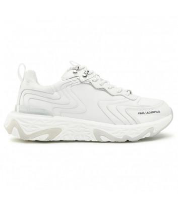 Кожаные кроссовки KARL LAGERFELD KL52420 белые