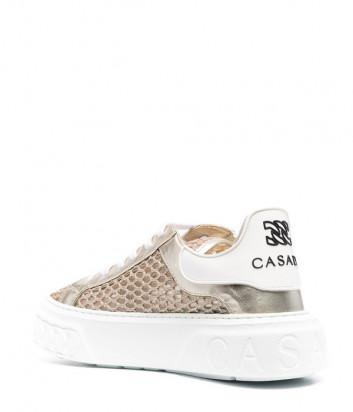 Кроссовки CASADEI 2X846S0201T0275 с перфорацией золотые