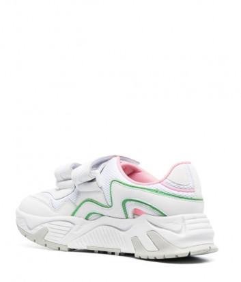 Кожаные кроссовки MSGM 3041MDS7003151 на липучках белые