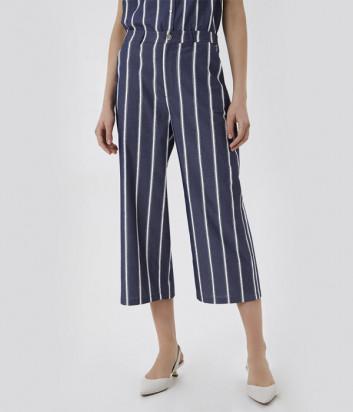 Укороченные джинсы LIU JO UA1083 D4601 синие в полоску