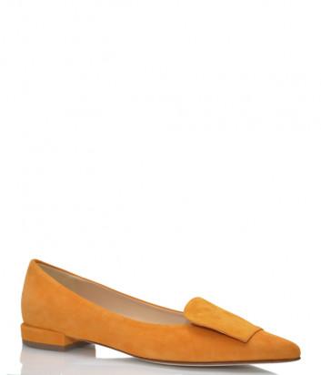 Замшевые туфли FABIO RUSCONI 5021 оранжевые