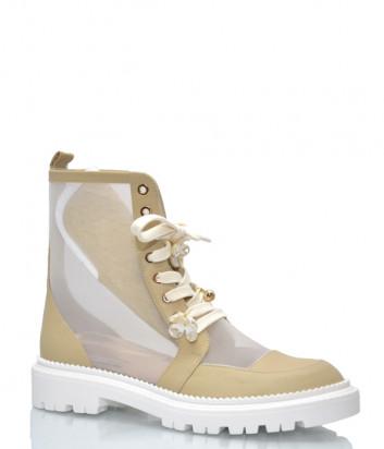 Кожаные ботинки HELENA SORETTI Valdi-2 с декором бежевые