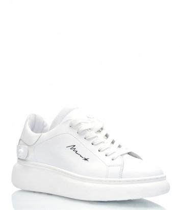 Кожаные кроссовки MELINE 255 белые