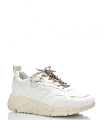 Кожаные кроссовки MELINE 7075 белые