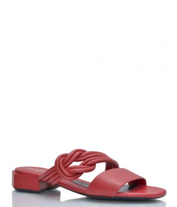 Кожаные шлепанцы BRUNO PREMI 0201 красные