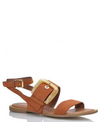 Замшевые сандалии BRUNO PREMI 0901 коричневые