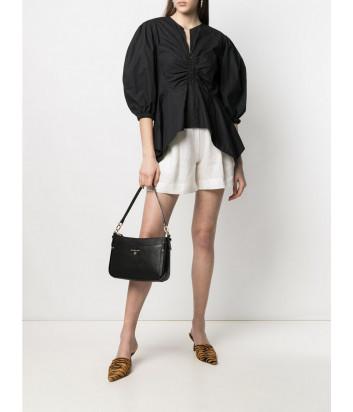 Кожаная сумка MICHAEL KORS Jet Set Charm 32S1GT9C8L с внешним карманом черная