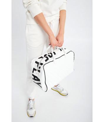 Большая сумка ICE PLAY 7239 6965 стеганная белая с логотипом