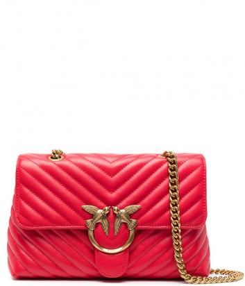 Сумка на цепочке PINKO Lady Love Bag Puff 1P2220 в стеганной коже красная