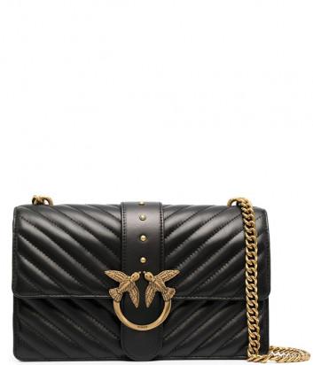 Сумка на цепочке PINKO Love Bag Classic Icon 1P221Z в стеганной коже черная