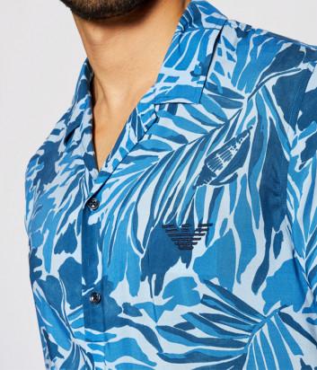 Рубашка EMPORIO ARMANI 211823 1P467 с коротким рукавом синий принт