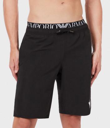 Плавки-шорты EMPORIO ARMANI 211753 1P432 черные с логотипом