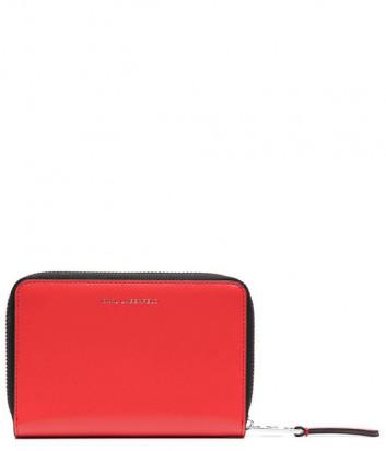 Кожаное портмоне KARL LAGERFELD 211W3217 с тисненным логотипом коралловое