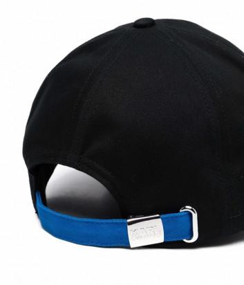 Бейсболка KARL LAGERFELD 215W3406 с вышитым логотипом черная