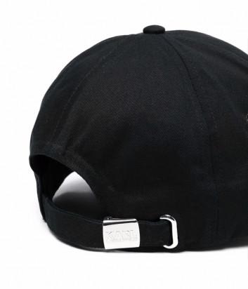 Бейсболка KARL LAGERFELD Signature 215W3409 с вышитым логотипом черная