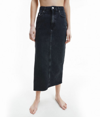 Длинная джинсовая юбка CALVIN KLEIN Jeans J20J216442 черная