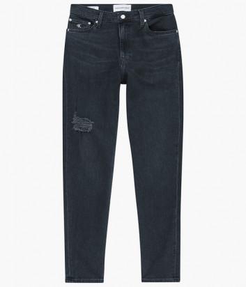 Джинсы-мом CALVIN KLEIN Jeans J20J216487 высокой посадки черные