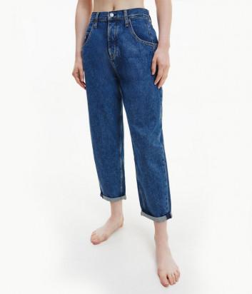 Джинсы багги CALVIN KLEIN Jeans J20J216433 высокой посадки синие
